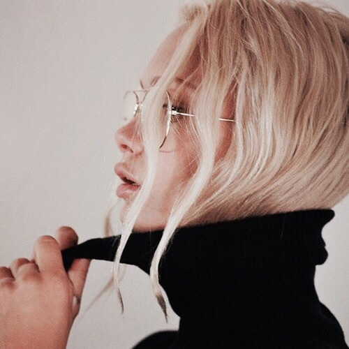 glasses, blonde, and style image