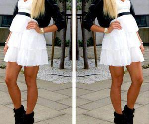 dress, white, and shoes image