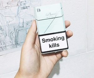 cigarette, grunge, and maps image