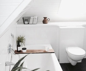 home, white, and bathroom image