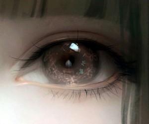 anime, art, and eye image