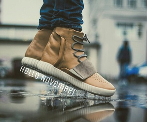 autumn, yeezys, and fall image