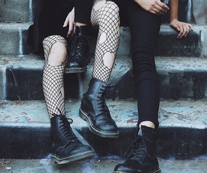 black, grunge, and alternative image
