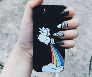 nails, unicorn, and tumblr image