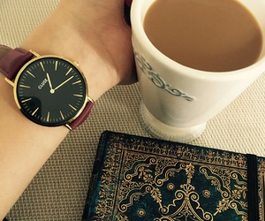 coffee, watch, and cluse image