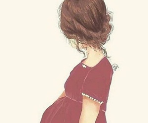 babies, pregnant, and mom image