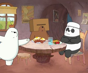cartoon network, funny, and ice bear image