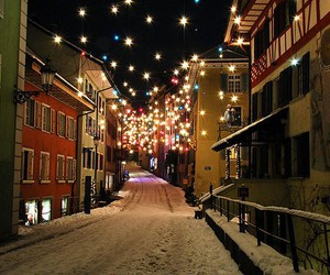 light, christmas, and snow image