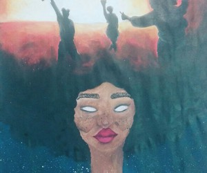 Afro, black girl magic, and black girl image