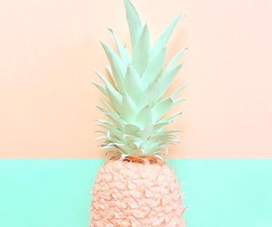 pastel, pineapple, and fruit image