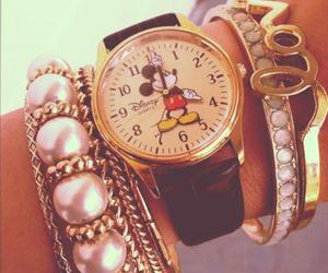 watch, disney, and mickey mouse image