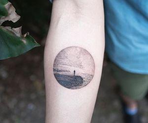 sea and tattoo image