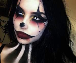 art, black hair, and mask image