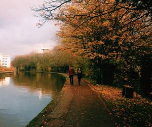 fall, autumn, and couple image