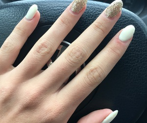 gold, inspiration, and nails image