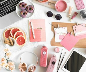 pink, food, and accessories image