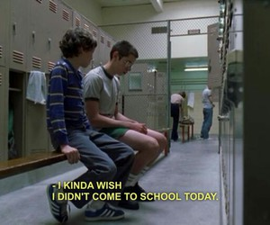 school, freaks and geeks, and sad image