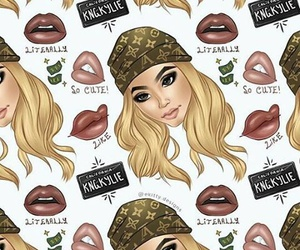 kylie jenner, lips, and wallpaper image