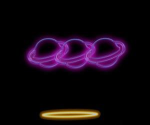 lockscreen, black lockscreen, and purple lockscreen image