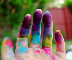 hand, colorful, and colors image