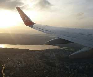 airplane, beautiful, and istanbul image