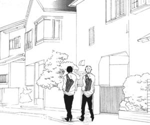 monochrome, boy, and manga image