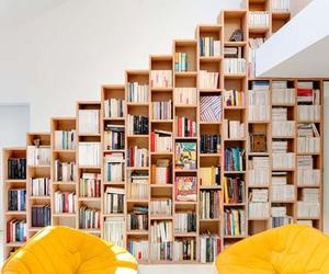 architecture, beautiful, and bookshelf image