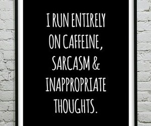 caffeine, funny, and quotes image