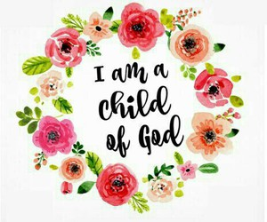 god, child, and flowers image