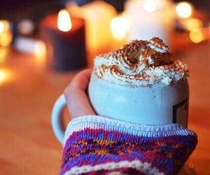 winter, hot chocolate, and christmas image