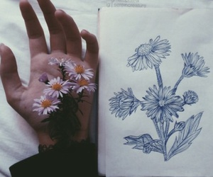 flowers, art, and grunge image