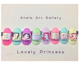 disney, disney princess, and nail image