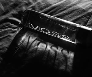 b&w, water, and voss image