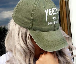 yeezy, cap, and hair image