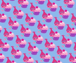 background, cupcake, and pink image