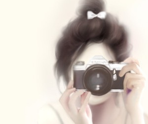 girl, camera, and Enakei image