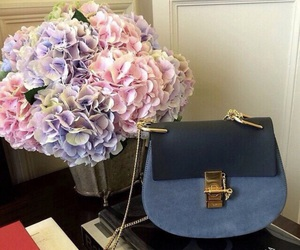 bag, flowers, and blue image