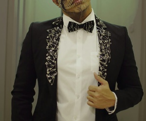 guy, makeup, and skull image