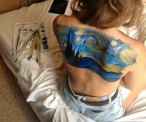 art, paint, and van gogh image