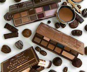 makeup, chocolate, and palette image