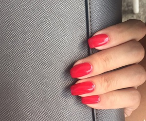 nails, red, and love image