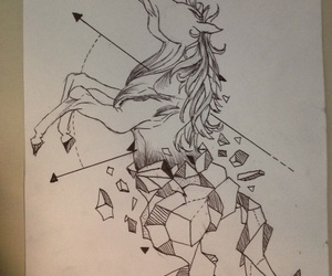 cheval, draw, and dessin image