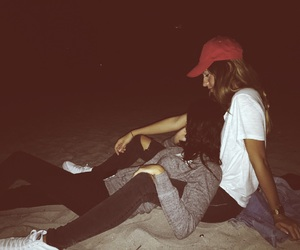 beach, cuddling, and summer image