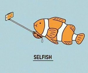 fish, selfie, and selfish image