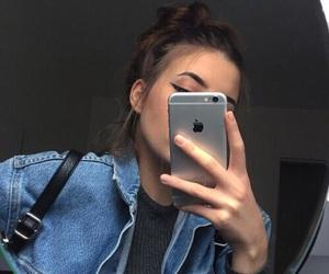 girl, iphone, and tumblr image