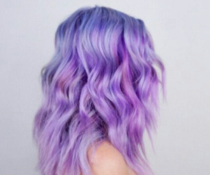 girl, hair, and lavender image