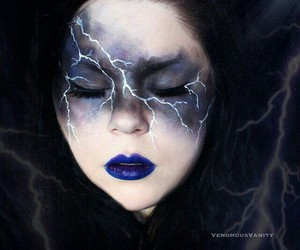 Halloween, makeup, and storm image