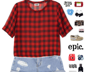 casual, checkered, and clothes image
