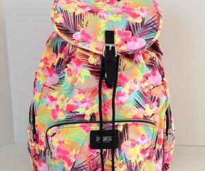 hawaiian, backpack, and pink image