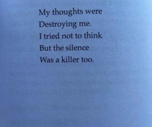 quotes, silence, and sad image
